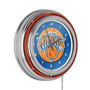 New York Knicks Double Ring Neon Clock