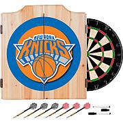 New York Knicks NBA Wood Dart Cabinet Set