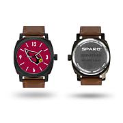 "NFL Sparo ""Knight"" Faux Leather Strap Personalized Watch"