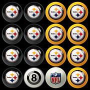 NFL Set of 16 Billiard Balls