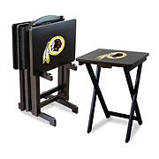 NFL Team Logo Set of 4 TV Trays with Stand - Redskins