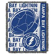 NHL Double Play Woven Throw - Tampa Bay Lightning