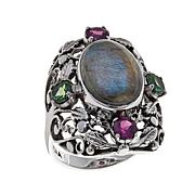Nicky Butler 1ctw Labradorite and Multigem Oval Ring