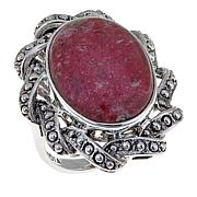 Nicky Butler Pink Thulite Oval Ribbon Ring