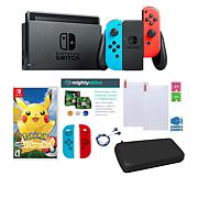 "Nintendo Switch Console Bundle with ""Pokemon Let's Go"" & Carrying Case"
