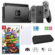 Nintendo Switch with Super Mario 3D World + Bowser's Fury & Accs.