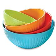 Nordic Ware Set of 4 Prep and Serve Mixing Bowls