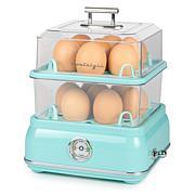 Nostalgia Classic Retro 14-Capacity Egg Cooker - Aqua