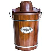 Nostalgia ICMP600WD Vintage Collection 6-Qt. Wood Bucket Electric I...