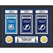 Officially Licensed Lightning Stanley Cup Banner Collection Photo Mint