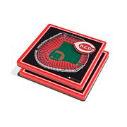 Officially Licensed MLB 3D StadiumViews Coaster Set - Cincinnati Reds