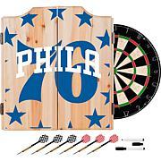 NBA Dart Cabinet Set with Darts and Board
