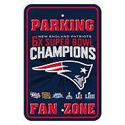 Officially Licensed NFL Super Bowl LIII Champion Patriots Parking Sign