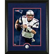 Officially Licensed NFL Tom Brady Silver Coin Canvas Photo Mint