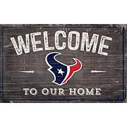 Officially Licensed NFL11x19 Welcome to our Home Sign