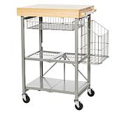 Origami Foldable Kitchen Cart with Side Basket