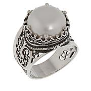 Ottoman Silver Jewelry Freshwater Pearl Solitaire Ring
