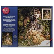 """Paint Works Paint By Number Kit 16"""" x 20"""" - Wild and Free Wolves"""