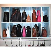 Park-a-Purse Closet Organizer with 10 Cubbies