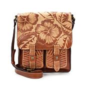 Patricia Nash Armeno Carved Leather Messenger Bag