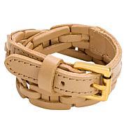 Patricia Nash Clarette Double Wrap Woven Leather Cuff