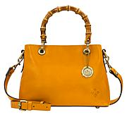 Patricia Nash Empoli Leather Bamboo-Inspired Handle Satchel