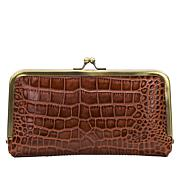 Patricia Nash Everly Leather Croco-Embossed Frame Wallet