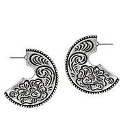 Patricia Nash Flat Etched Tooled Hoop Earrings