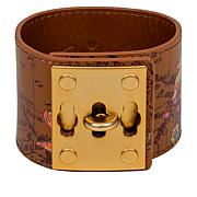Patricia Nash Luigia Triple Turn-Lock Leather Cuff Bracelet