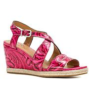 Patricia Nash Rafa Tooled Leather Wedge Sandal