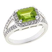Paul Deasy Gem 1.91ctw Arizona Peridot and White Topaz Ring