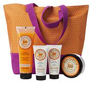 Perlier Agrumarium 4-piece Kit with Woven Tote Bag