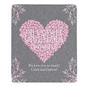 Personal Creations Personalized Heart Petals Plush Throw