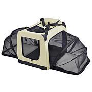 Pet Life Large Soft Folding Collapsible Expandable Pet Dog Crate