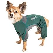 Pet Life LG 4-Way-Stretch Breathable Full Body Dog Warmup Track Suit
