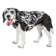 Pet Life Luxe Paw Dropping Tiger Pattern Faux Mink Fur Dog Coat