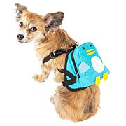 Pet Life Pocketed Compartmental Dog Harness Backpack
