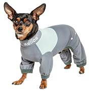 Pet Life 4-Way-Stretch Breathable Full Body Dog Track Suit