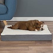 """PETMAKER Orthopedic Sherpa Top Pet Bed - 30"""" x 20-1/2"""""""
