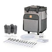Picnic Time Rolling Picnic Cooler - Heathered Gray