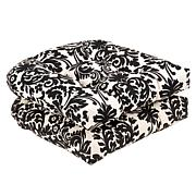 Pillow Perfect Essence Seat Cushion Pair - Black