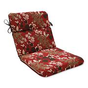 Pillow Perfect Reversible Rounded Chair Cushion