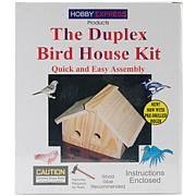 Pinepro Duplex Wood Bird House Kit - Unfinished