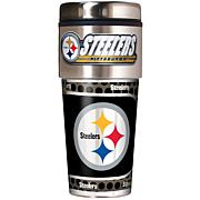 Pittsburgh Steelers Travel Tumbler w/ Metallic Graphics and Team Logo