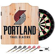 Portland Trail Blazers NBA Wood Dart Cabinet Set