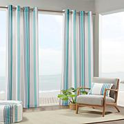"Print Stripe 3M Scotchgard Curtain Blue/White/54"" x 84"""