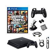 "PS4 Pro 1TB Console w/""Grand Theft Auto V""+Starter Kit"