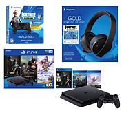 PS4 Slim 1TB with 3-Game Bundle, Headset and Extra Controller
