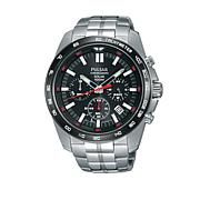 Pulsar Men's Solar Chronograph Stainless Steel Bracelet Watch