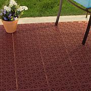 Pure Garden Interlocking Patio, Deck or Garage Floor Tiles-11.5 x 11.5